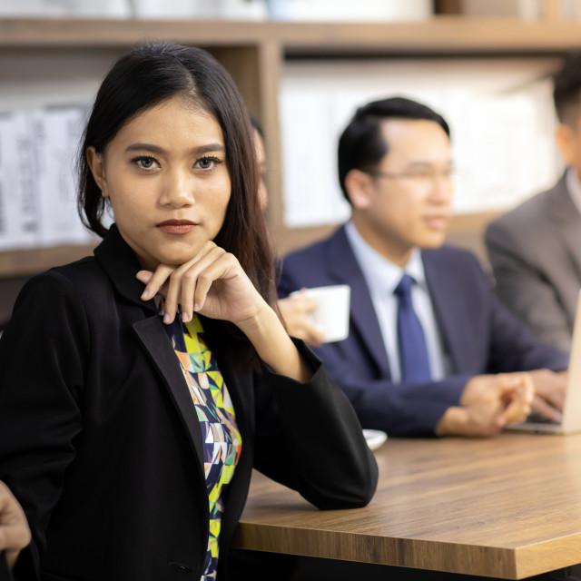 """Portrait of Confidense Businesswoman"" stock image"