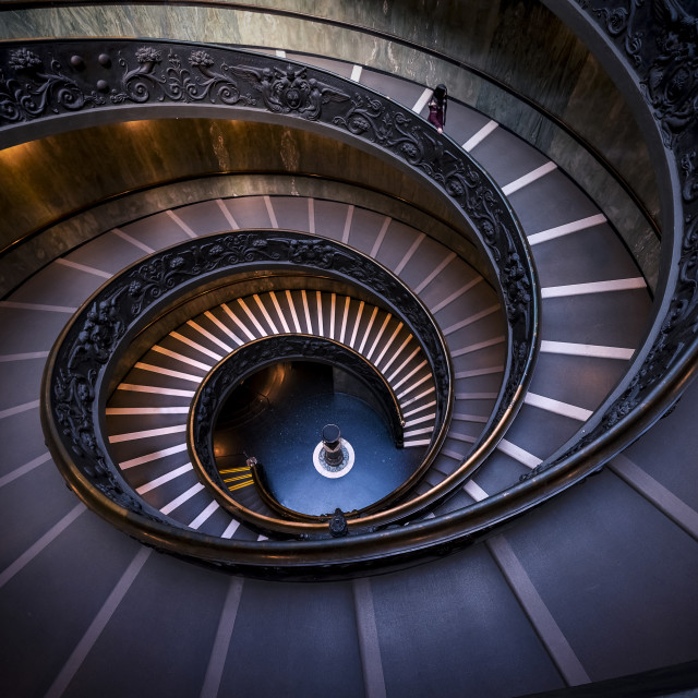 """The Vatican Spiral Staircase"" stock image"