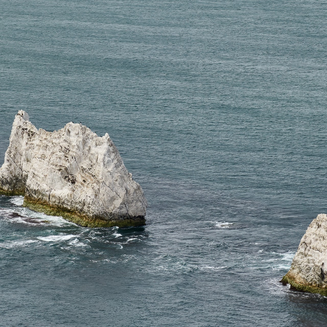 """The Needles Rocks and Lighthouse, Isle of Wight"" stock image"