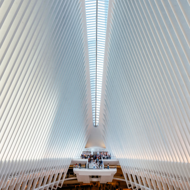 """Interior view of Oculus in New York"" stock image"