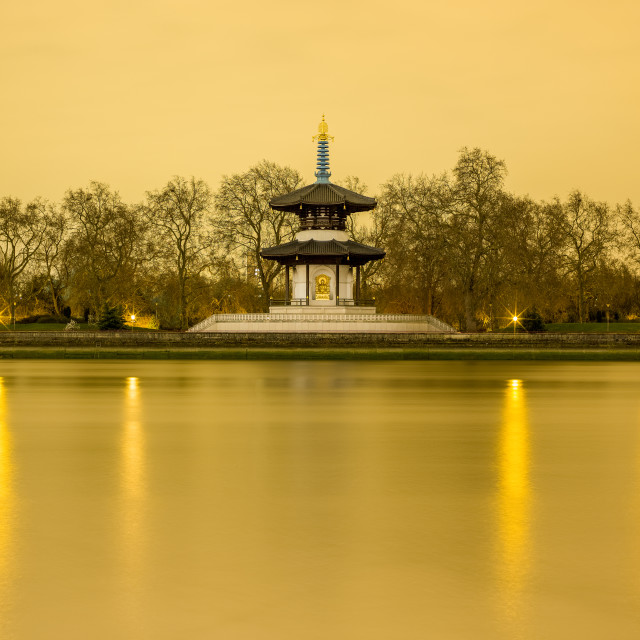 """London Peace Pagoda"" stock image"