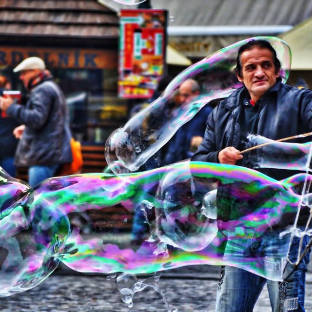 """Bubble man"" stock image"