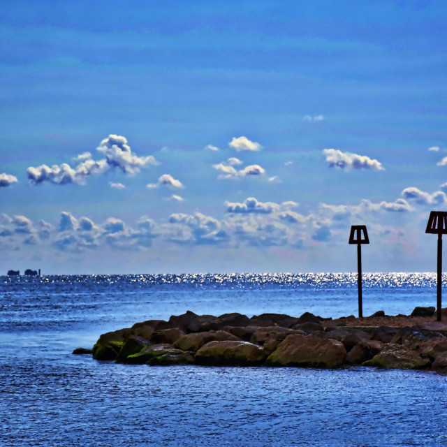 """Mudeford Bay"" stock image"