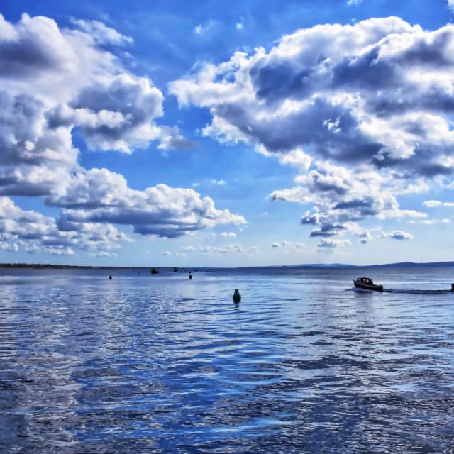 """Fishing at Mudeford"" stock image"
