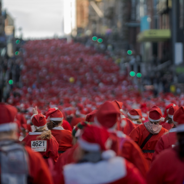 """The Great Santa Dash Glasgow 2018"" stock image"