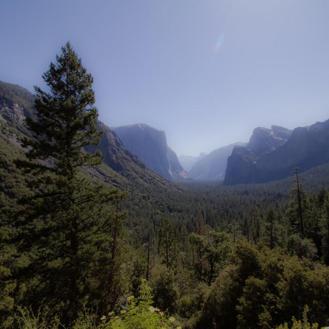 """Yosemite Tunnel View"" stock image"