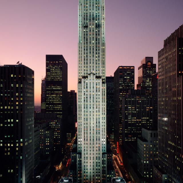"""""""Rockefeller Center, Christmas"""" stock image"""