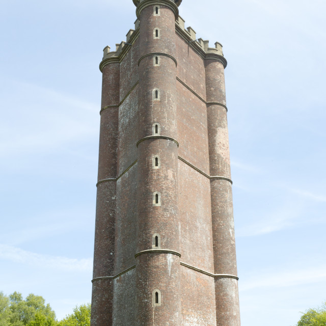 """King Alfred's Tower, Folly ofKing Alfred's the Great or Stourton Tower,..."" stock image"