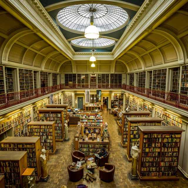 """""""The Lit. & Phil. library, Newcastle upon Tyne"""" stock image"""