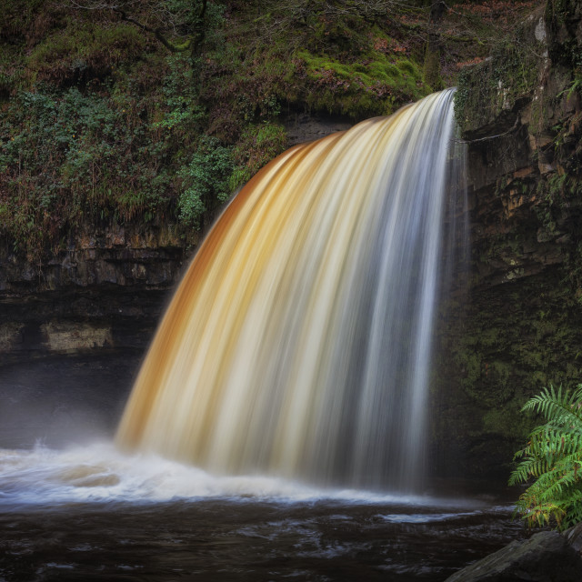 """Lady Falls in full flow"" stock image"