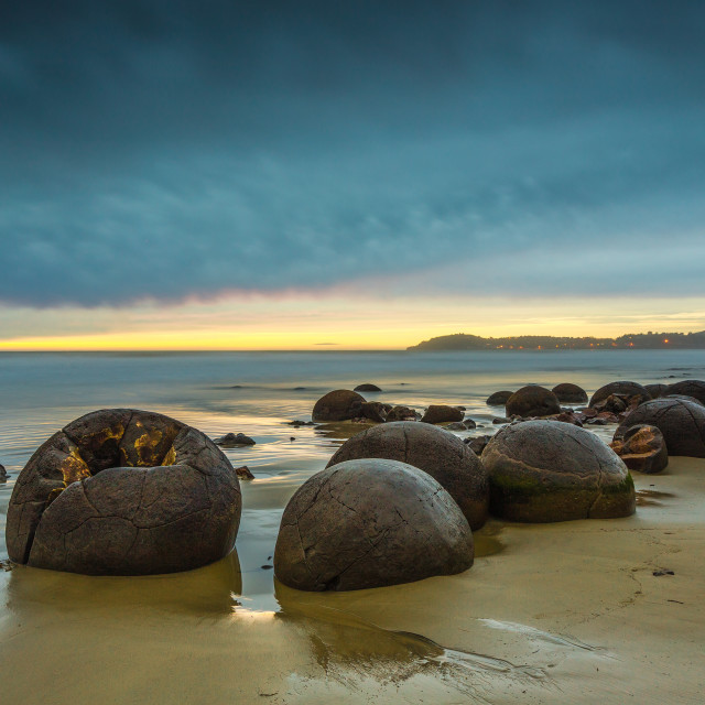 """Moeraki Boulders. Oamaru New Zealand"" stock image"