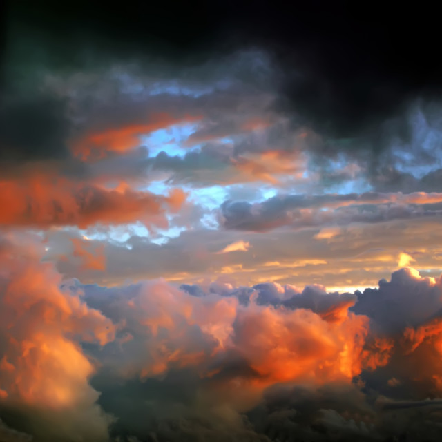 """""""after tornado skyscape"""" stock image"""