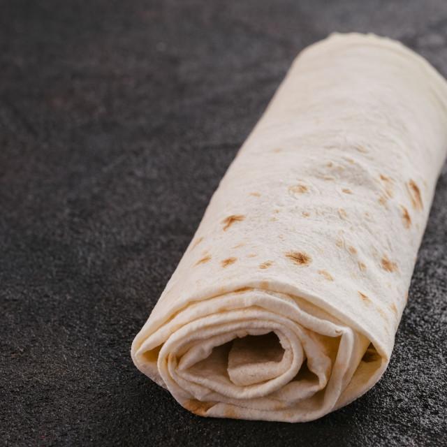 """Armenian flat bread lavash"" stock image"