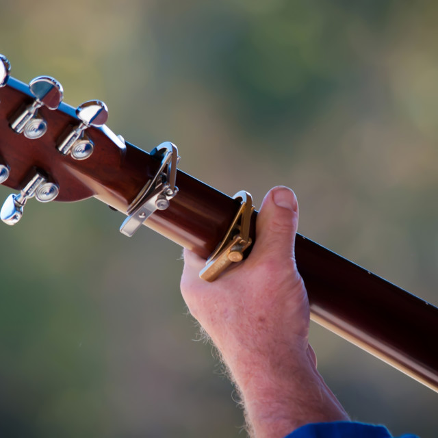 """man hand with guitar"" stock image"