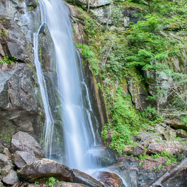 """""""high shoal falls in south mountains"""" stock image"""