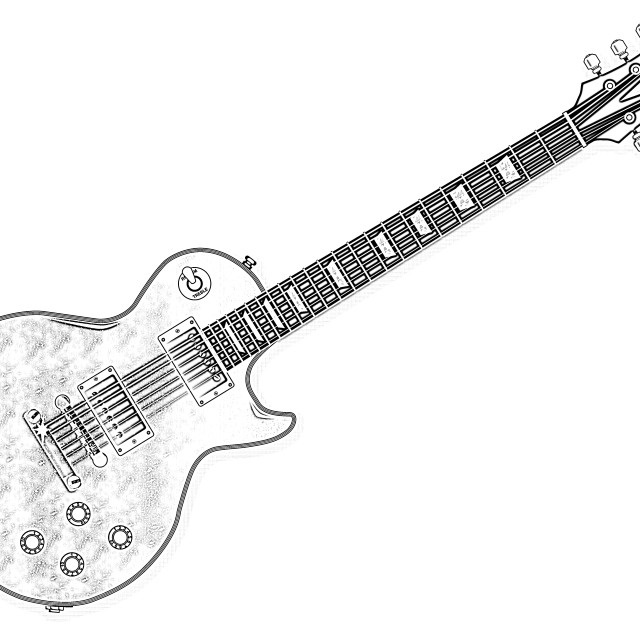 """""""Classic Electric Guitar"""" stock image"""