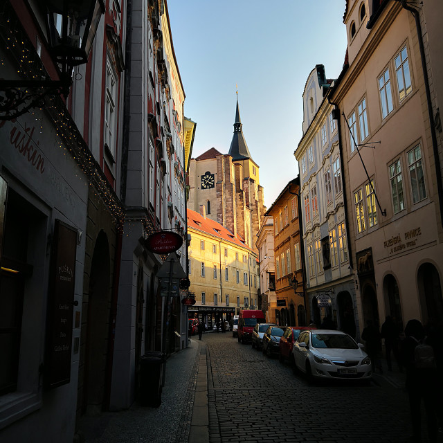"""Prague Street"" stock image"
