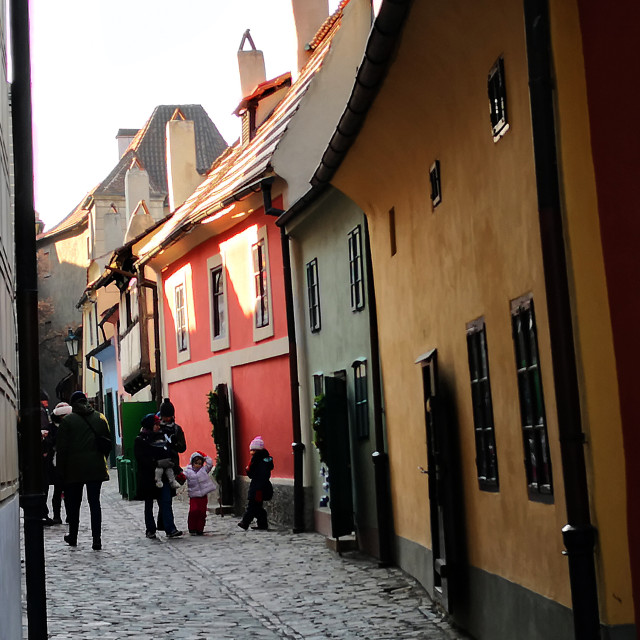 """Golden Lane Street in Prague Castle"" stock image"