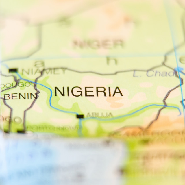 """""""nigeria country on map"""" stock image"""