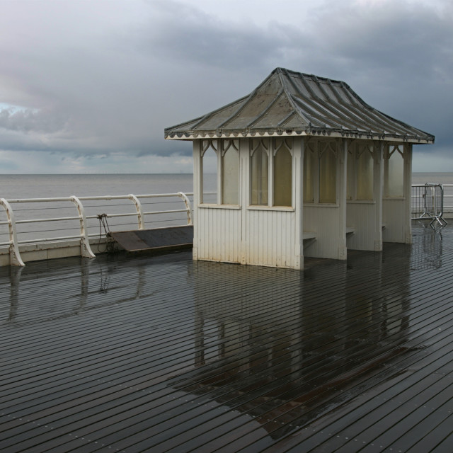 """Stormy day at Cromer Pier 2"" stock image"