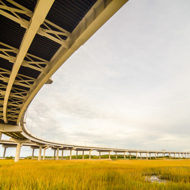 """""""elevated highway road and pillars"""" stock image"""
