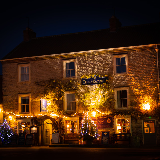 """HELMSLEY AT CHRISTMAS"" stock image"