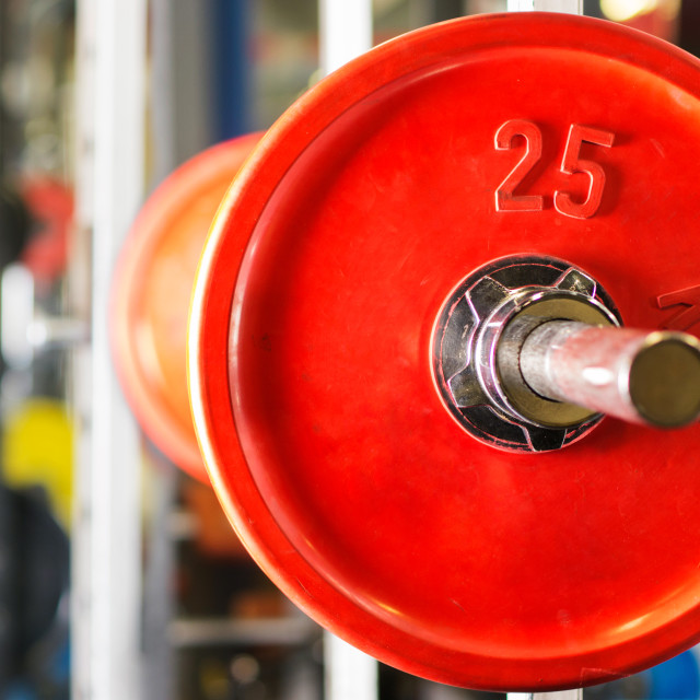 """""""Barbell ready to workout"""" stock image"""