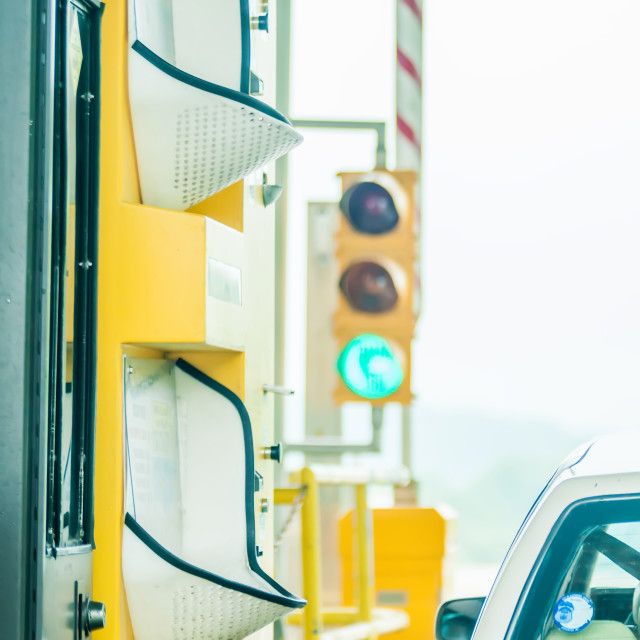 """""""paying highway road toll"""" stock image"""