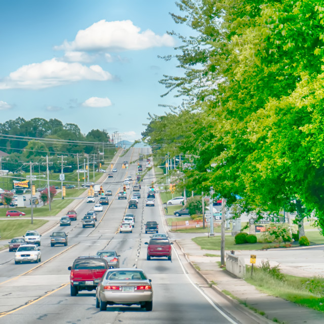 """""""streets of maryville tennessee"""" stock image"""