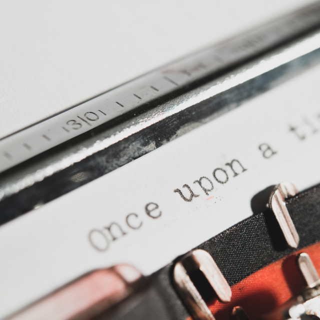 """""""Typewriter vintage old style text """"once upon a time"""""""" stock image"""