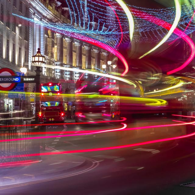 """Turning Onto Regent Street"" stock image"