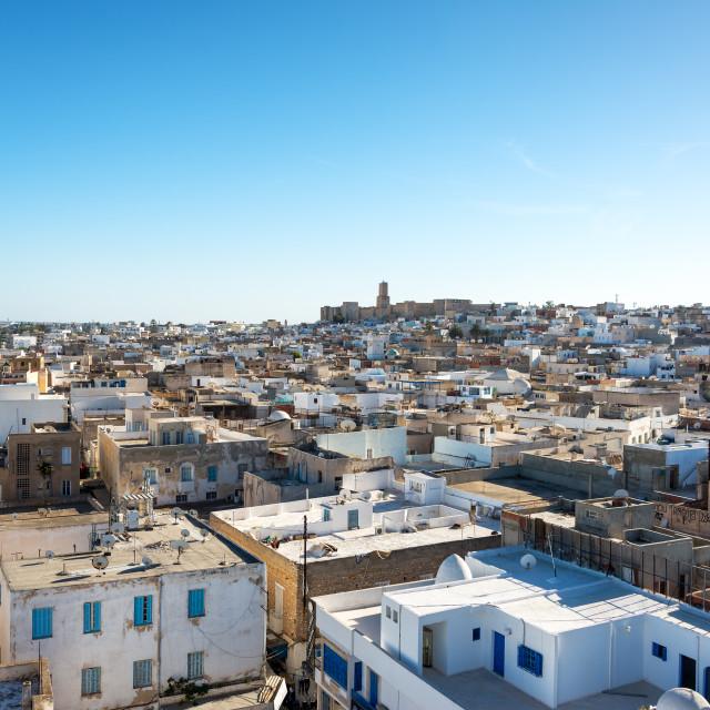 """Cityscape of Sousse, Tunisia"" stock image"
