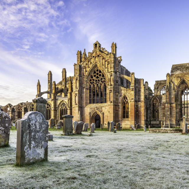 """St Mary's Abbey, Melrose, Scotland"" stock image"