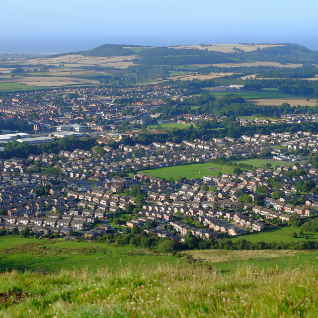 """Guisborough viewed from Highcliff Nab"" stock image"