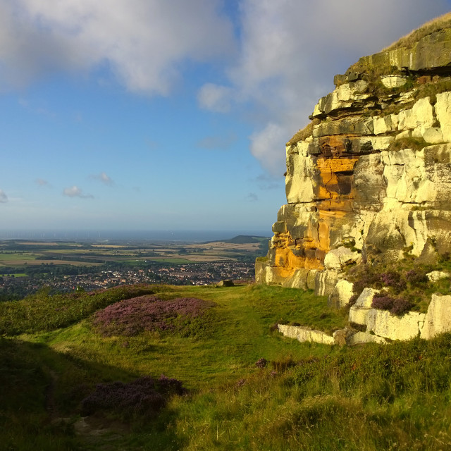 """Highcliff Nab above Guisborough"" stock image"