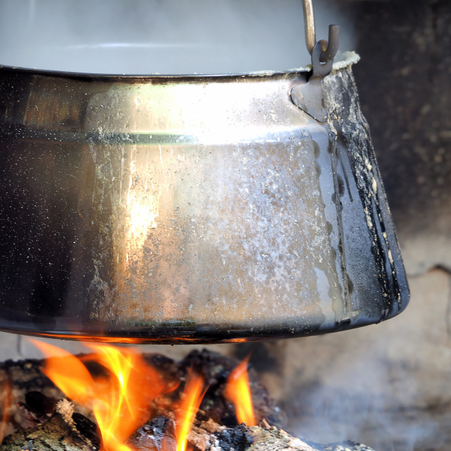 """kettle on the fire"" stock image"