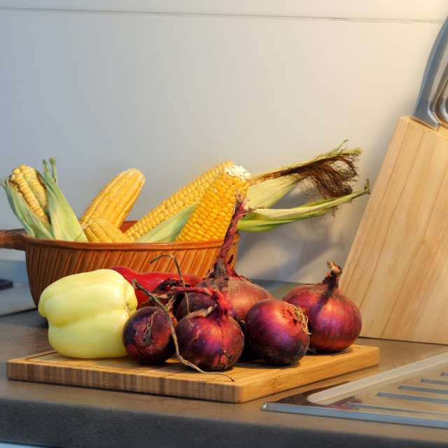 """vegetables on the cuting board"" stock image"