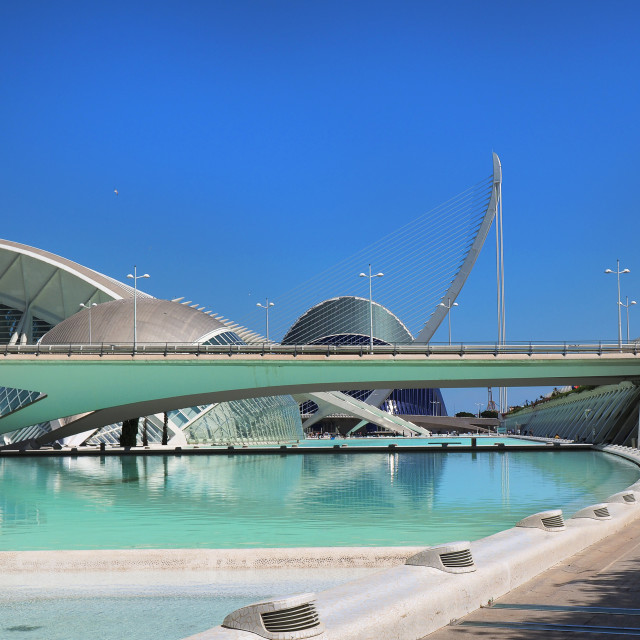 """Valencia ,modern part of the city"" stock image"