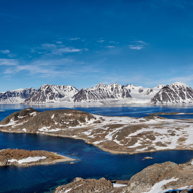 """landscape seen from Virgohamna on Svalbard"" stock image"