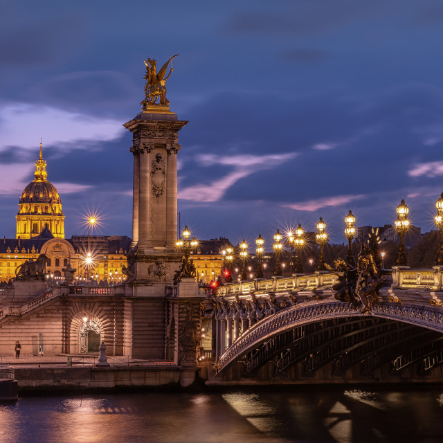 """Bridge Alexander III - Paris"" stock image"