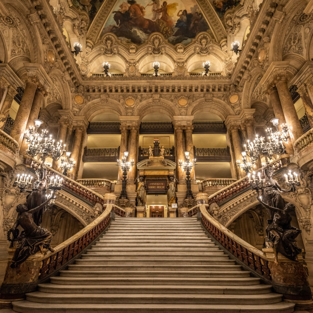 """Paris Opera Staircase"" stock image"