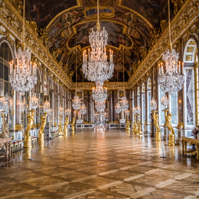 """Hall of Mirrors - Versailles Palace"" stock image"