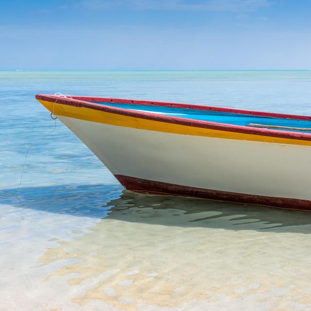 """Fisherman Boat - Mauritius"" stock image"