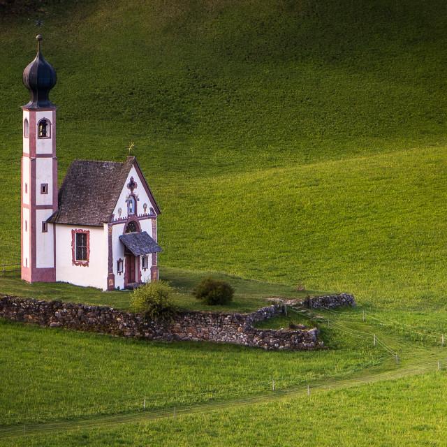 """""""St Joahn's Chapel - Dolomites"""" stock image"""