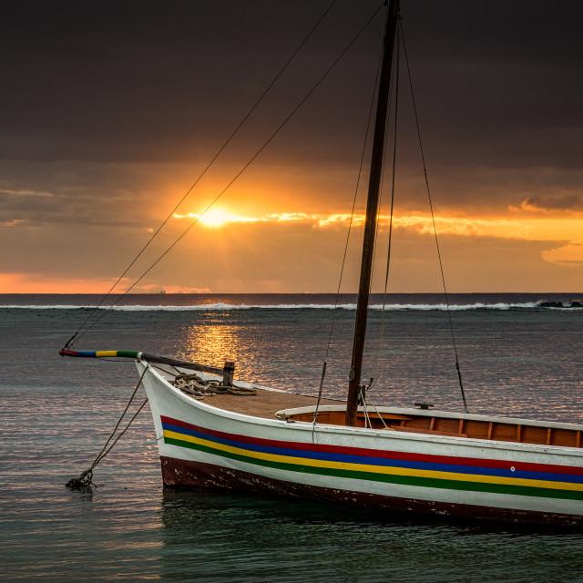 """Mauritius Sunset II"" stock image"