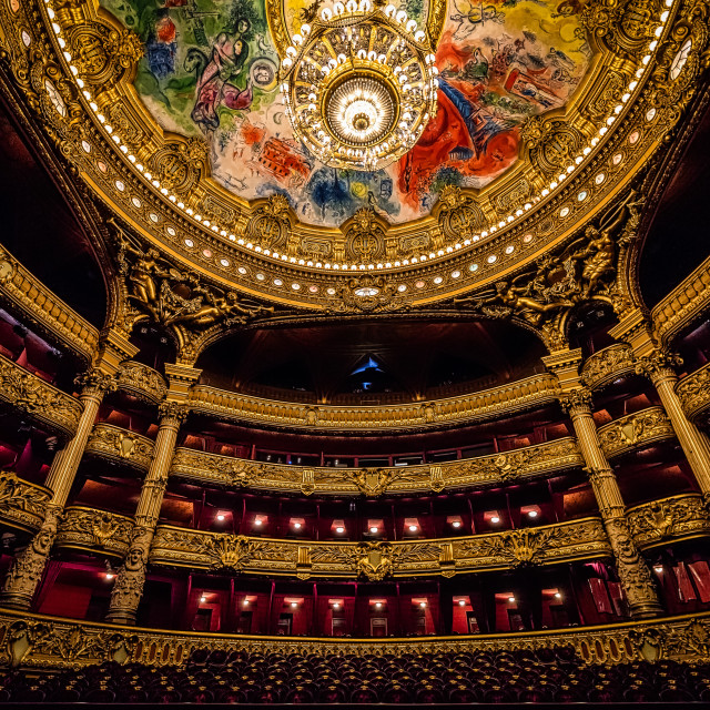 """Paris Opera House - Ballroom"" stock image"