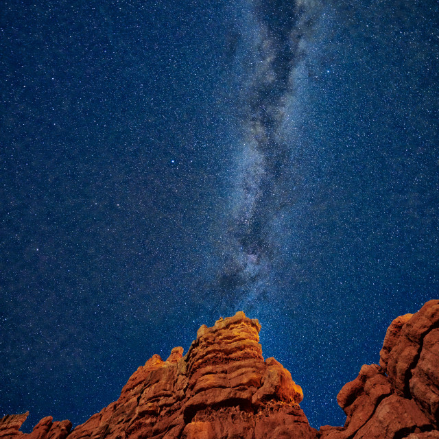 """""""night sky over Red Canyon"""" stock image"""