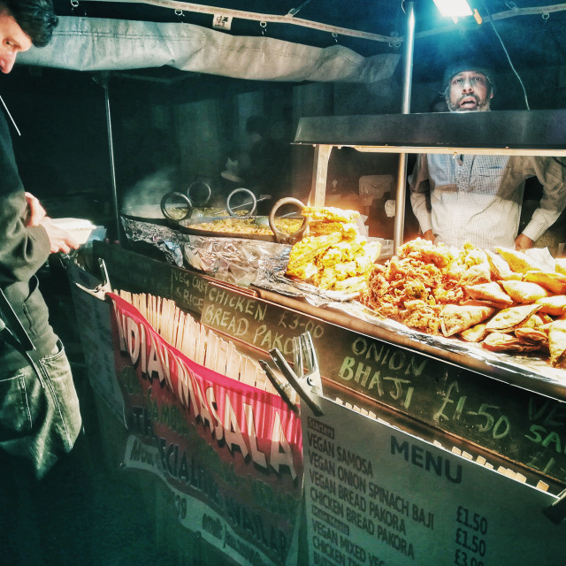 """""""Indian Street Food stall"""" stock image"""