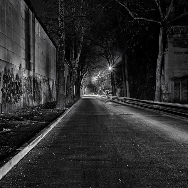 """""""Dark and empty street"""" stock image"""