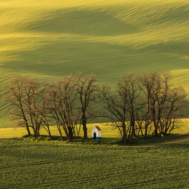 """""""Chapel in the field"""" stock image"""